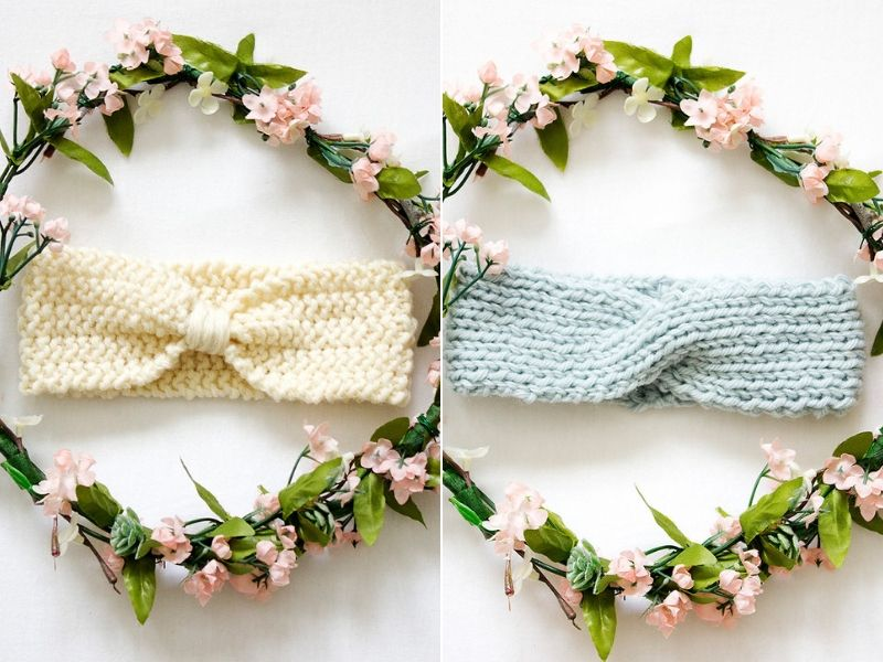 Simple Knitted Baby Headbands Free Patterns