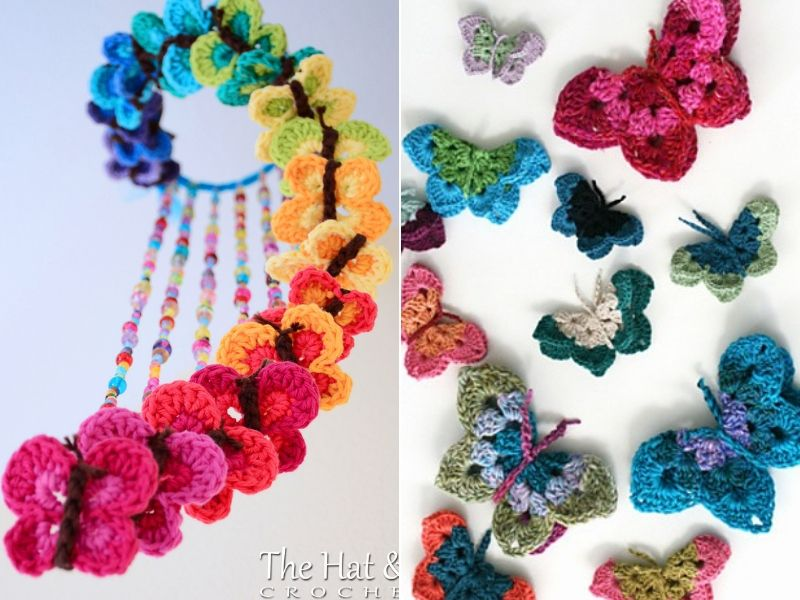 Stunning Butterfly Appliques Free Crochet Patterns
