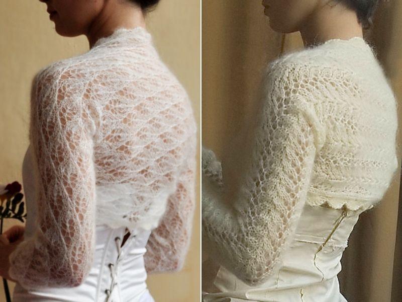 Subtle Bridal Shrugs Free Knitting Patterns