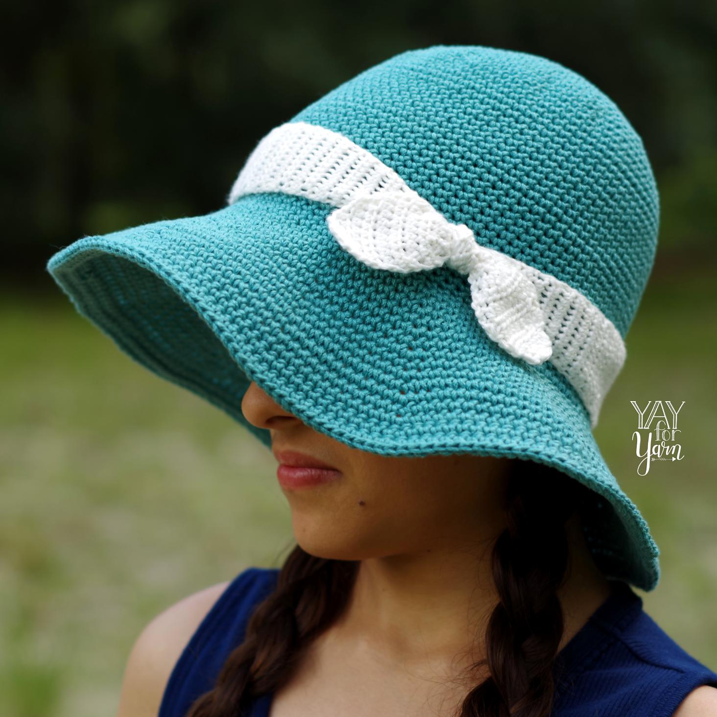 Summer Sunhat Free Crochet Pattern