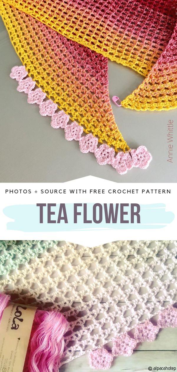 Tea Flower Free Crochet Pattern