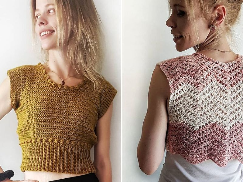 Textured Crop Top Ideas Free Crochet Patterns