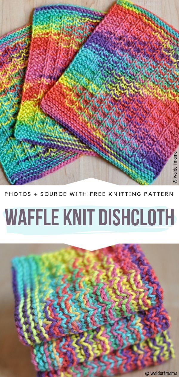 Waffle Knit DishclothFree Knitting Pattern