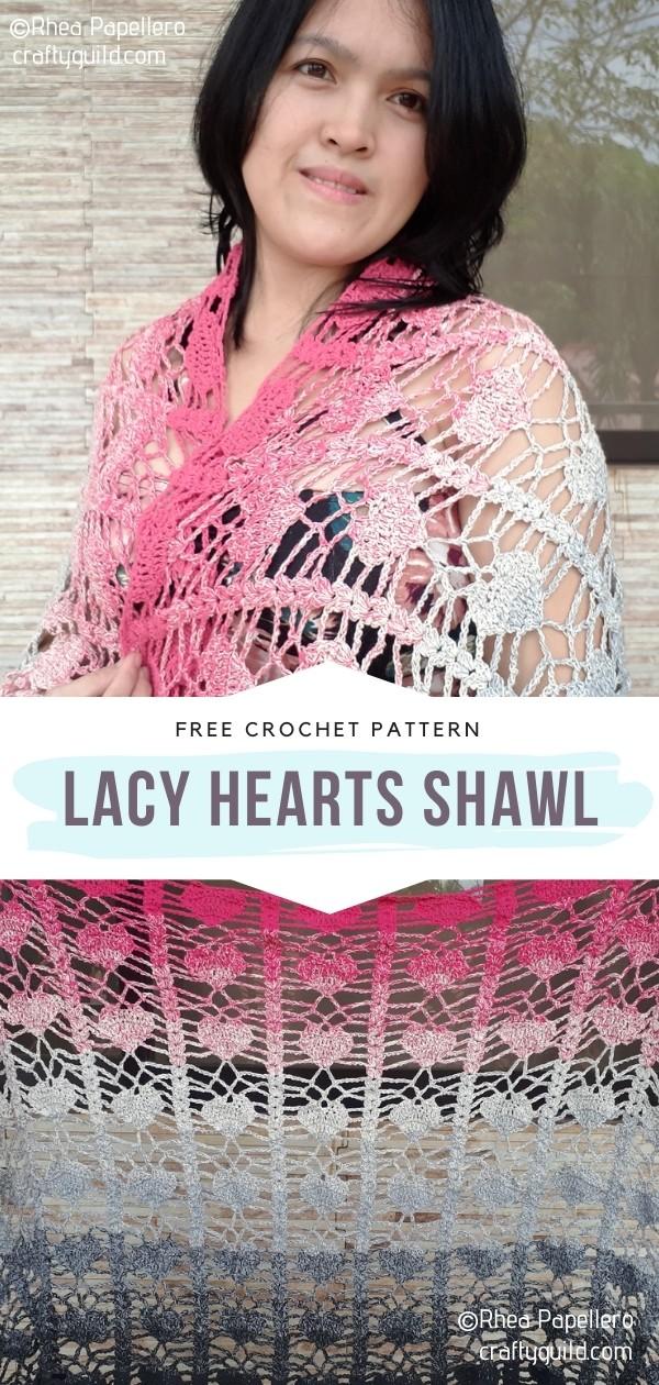 Lacy Hearts Shawl