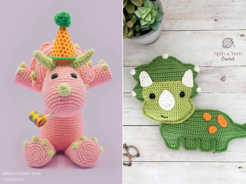 Awesome Amigurumi Dinosaurs with Free Crochet Patterns
