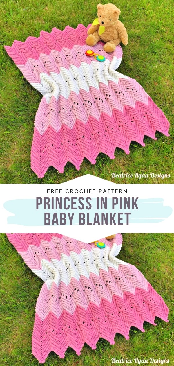 Colorful Chevron Baby Blankets With Free Crochet Patterns