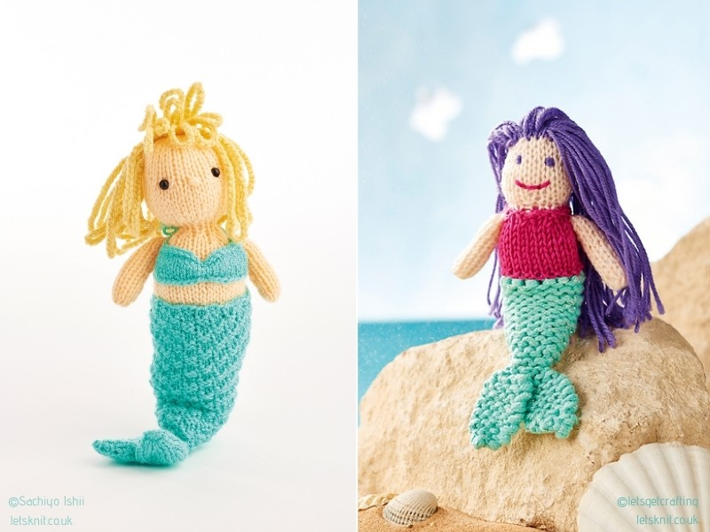 Fabulous Knitted Mermaids Softies with Free Patterns