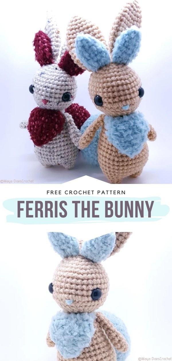 Ferris the Bunny Free Crochet Pattern
