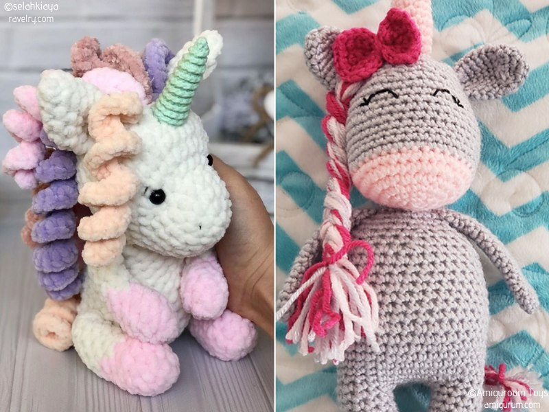 Glamorous Unicorn Amigurumi