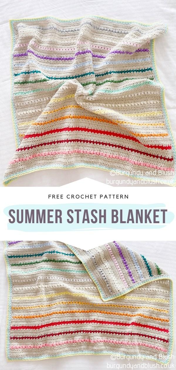 Stripy Crochet Blanket