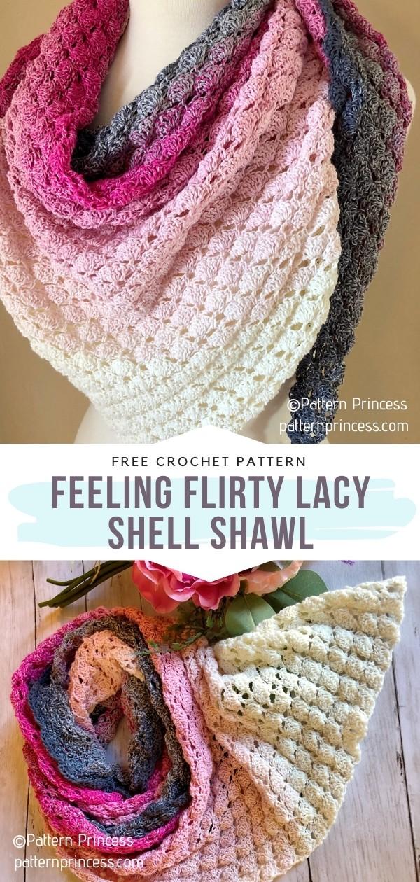 Feeling Flirty Lacy Shell Shawl
