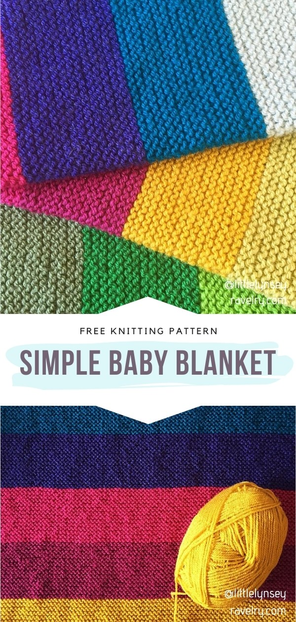 Colorful Knitted Baby Blanket