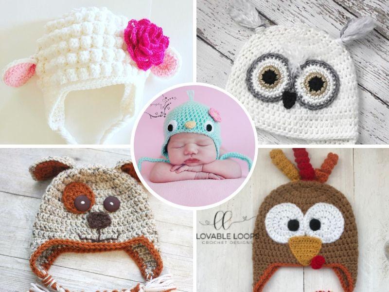 Adorable Animal Baby Hats