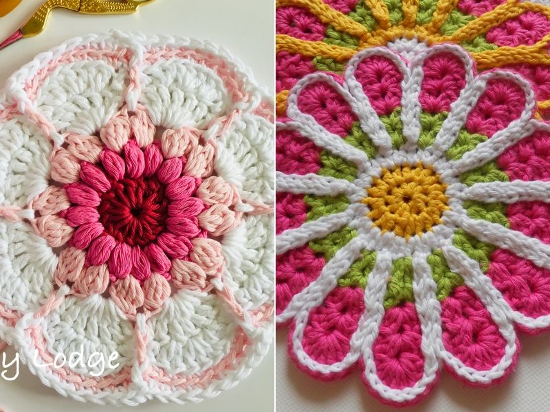 Amazing Flower Dishcloths Free Crochet Patterns