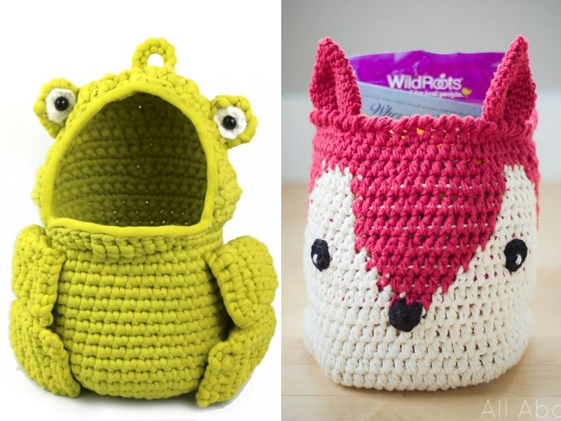Animal Inspired Baskets Free Crochet Patterns