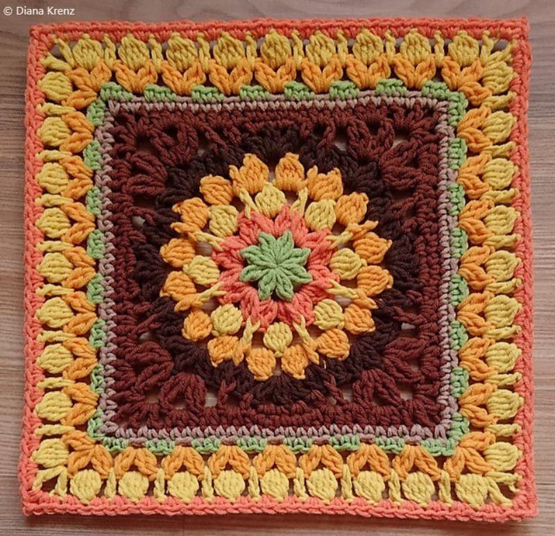 Crochet Afghan Block