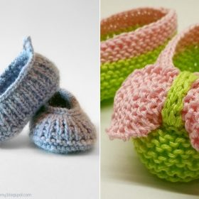 Charming Knitted Baby Booties with Free Patterns