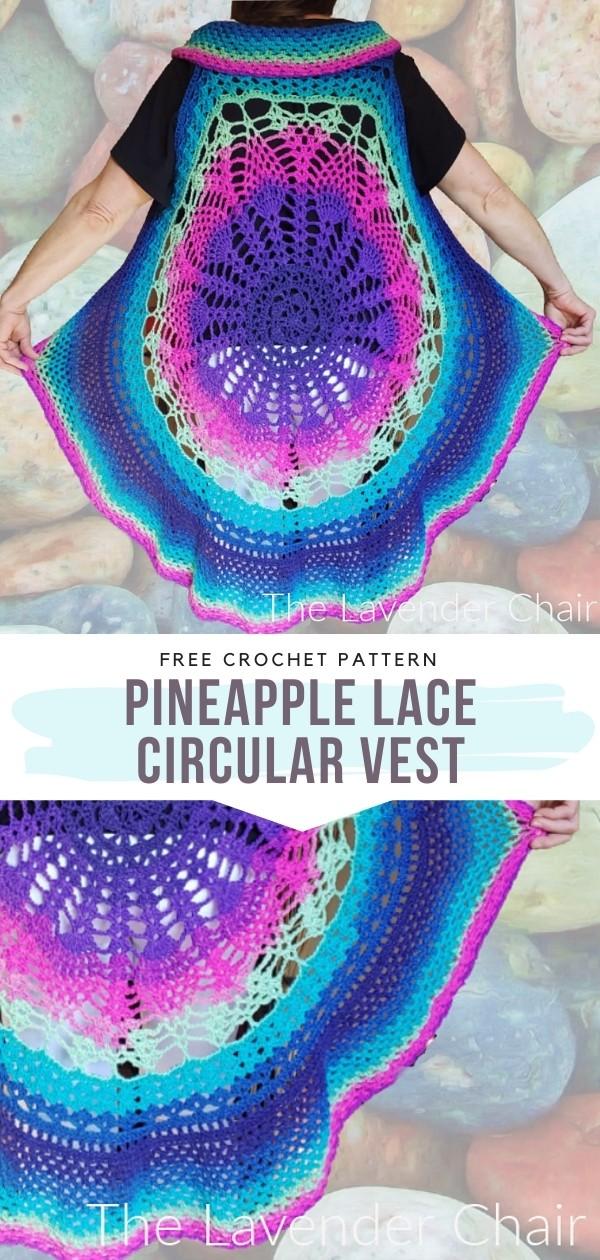 Pineapple Lace Circular Vest
