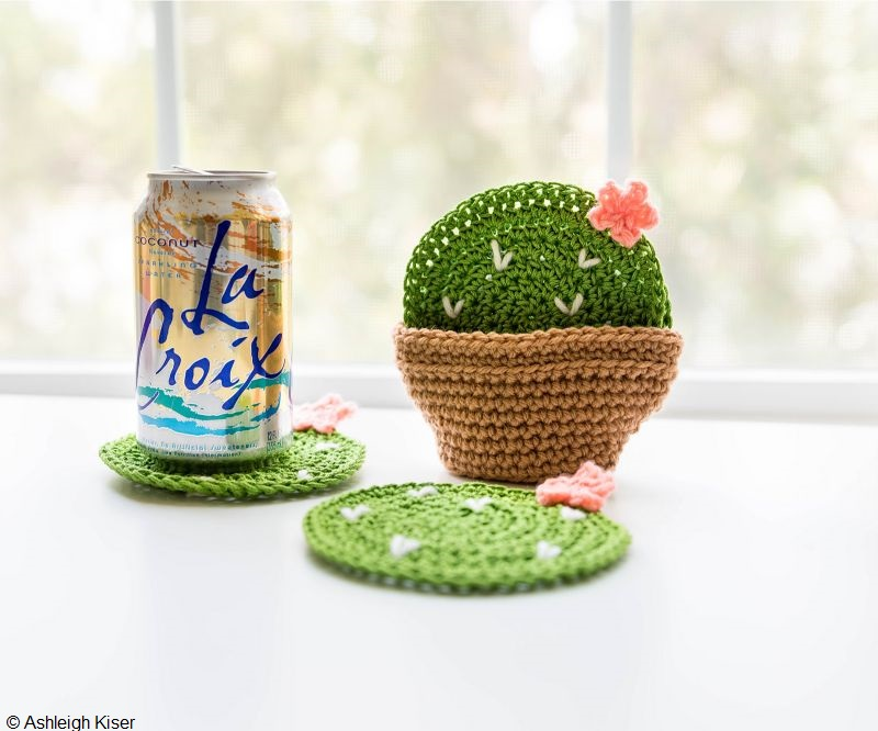 Cactus Coasters Free Crochet Pattern