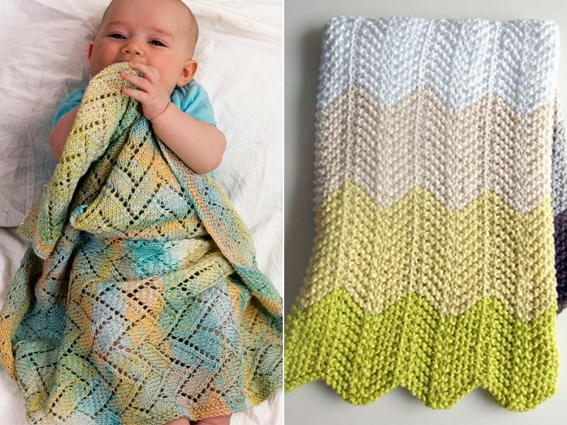 Chevron Knitted Baby Blanket Ideas Free Patterns