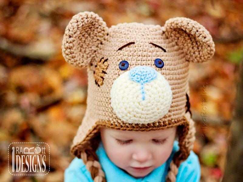 Classic Teddy Bear Hat Crochet Pattern