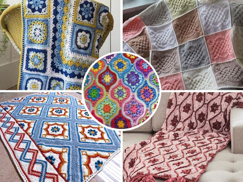 Colorful Tile Afghans