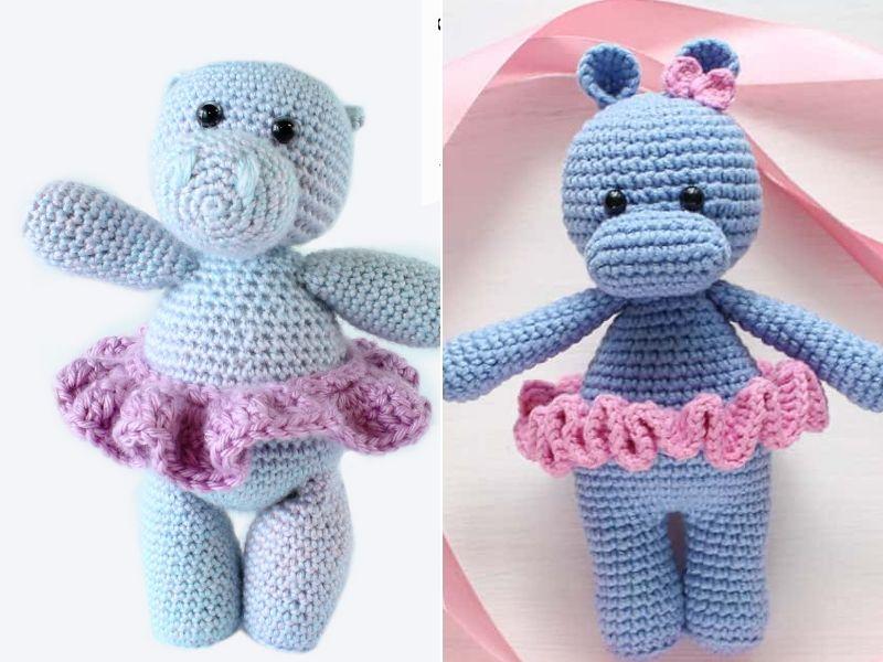 Cute Dancing Hippos Free Crochet Patterns