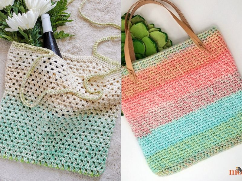Delicious Tote Bags Free Crochet Patterns