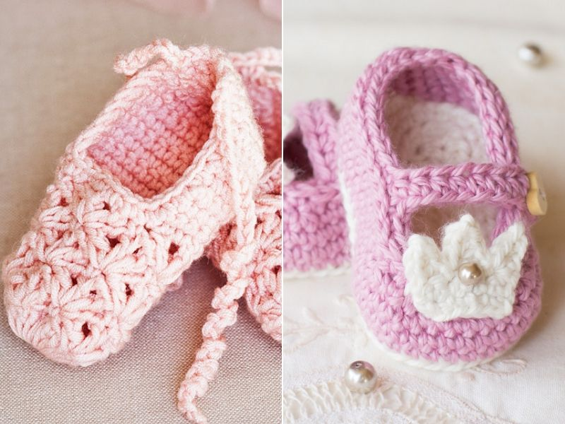 Delightful First Baby Booties Free Crochet Patterns