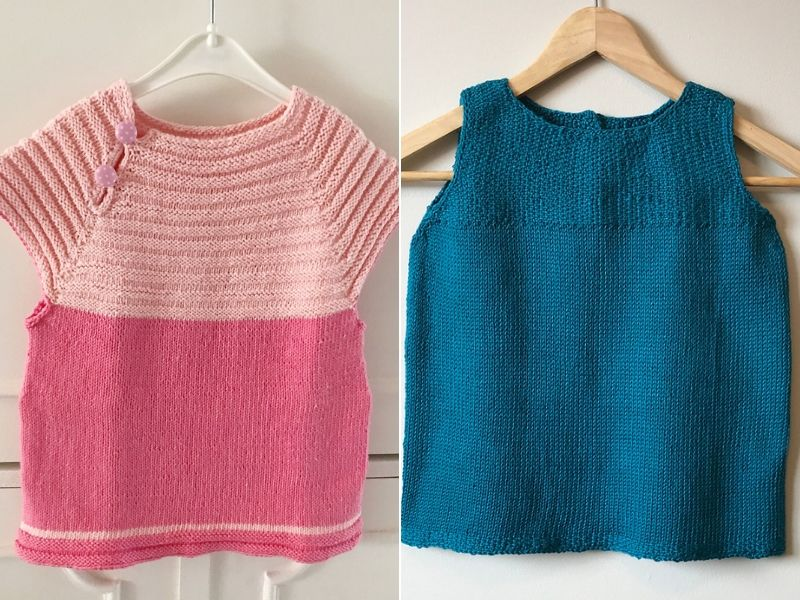 Easy Baby Dresses Free Knitting Patterns