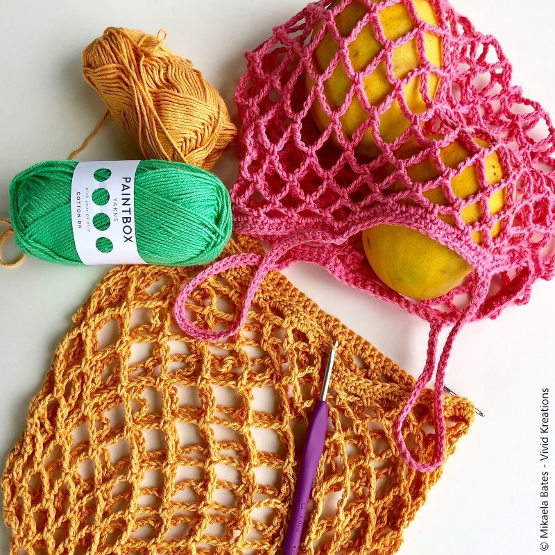 Tiny Star Produce Bag Crochet Pattern