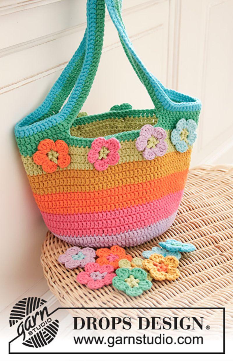 Flower Market Bag Free Crochet Pattern