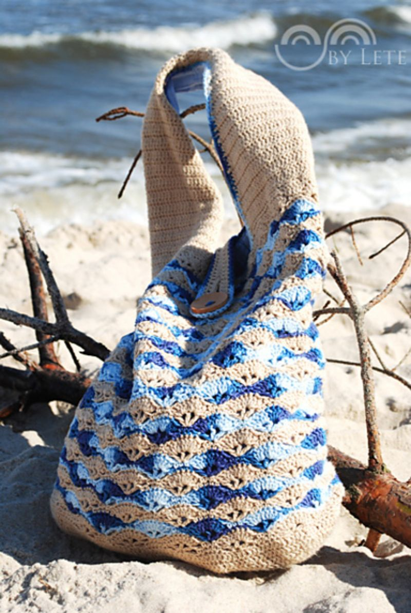 She Sells Sea Shells Crochet Bag Free Pattern