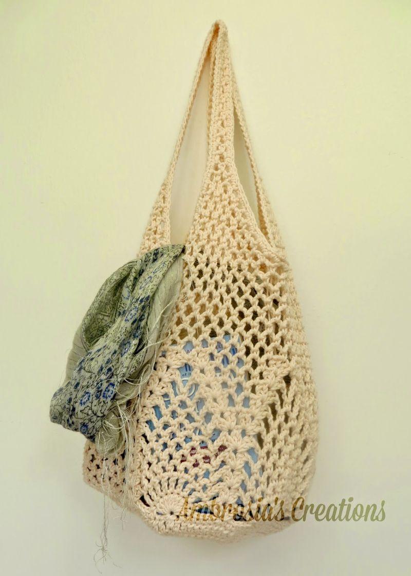 Pineapple Crochet Market Bag Free Crochet Pattern