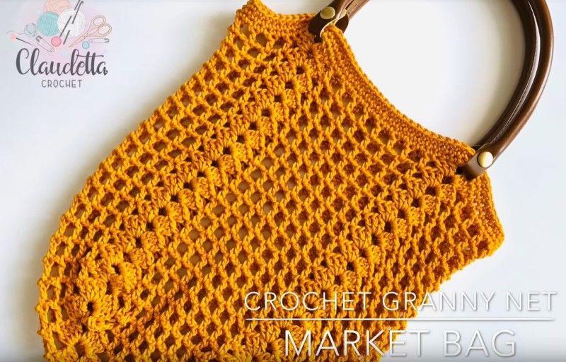 Crochet Granny Net Market Bag Free Pattern