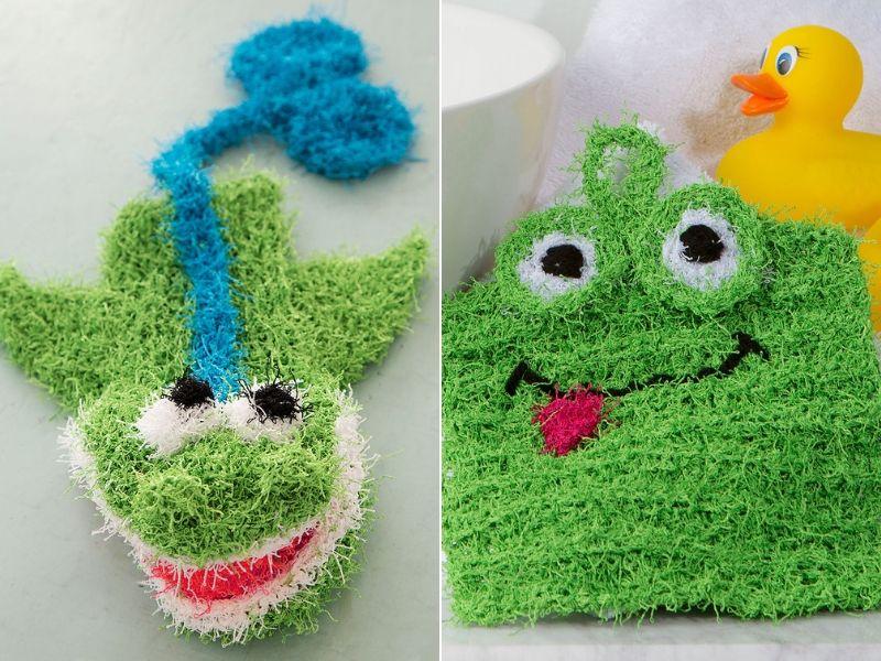 Fun Bathtime Scrubbies Free Knitting Patterns