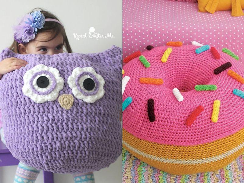 Fun Crochet Floor Pillows Free Patterns