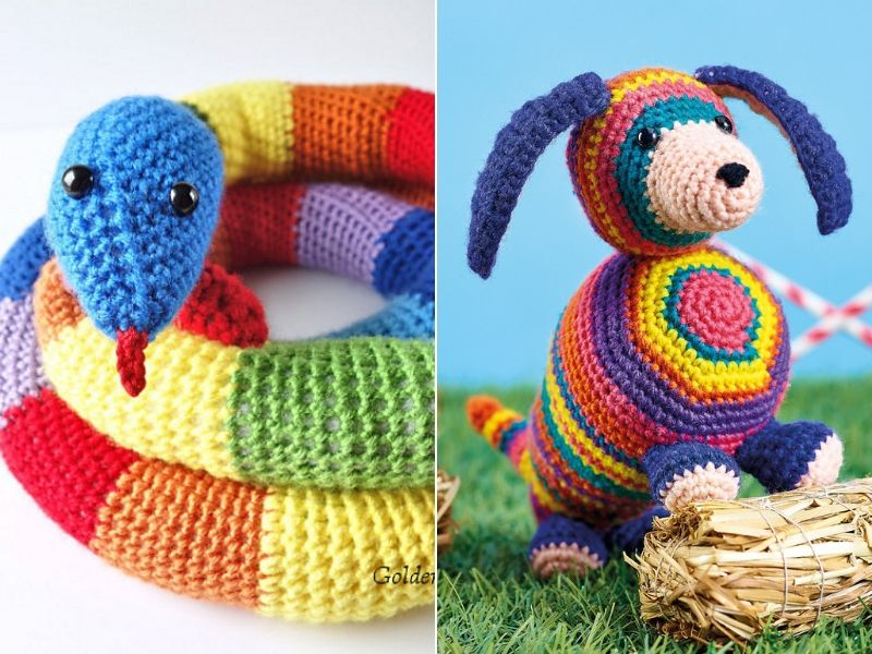 Fun Rainbow Amigurumi Free Crochet Patterns