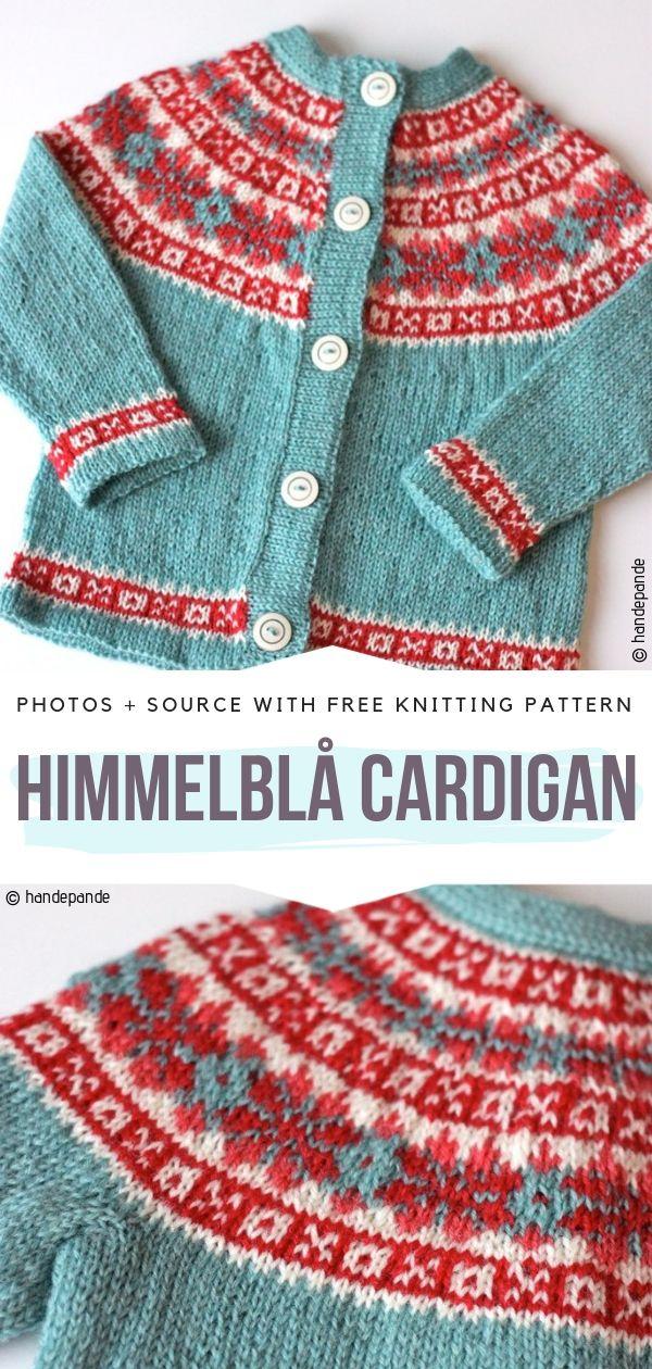 Himmelblå Cardigan Free Knitting Pattern