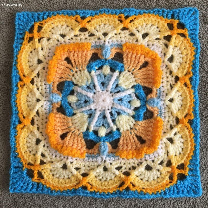 Crochet Afghan Block Square