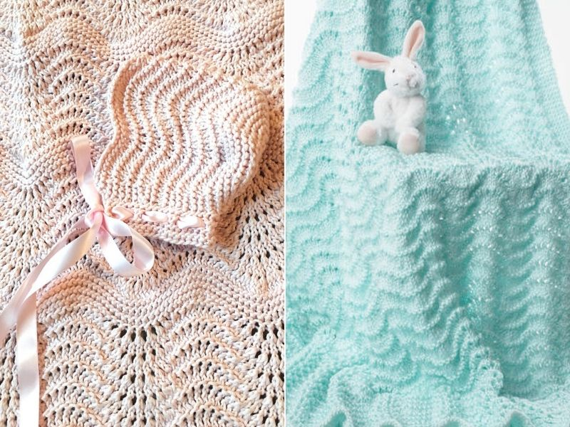 Knitted Ripple Baby Blankets Free Patterns