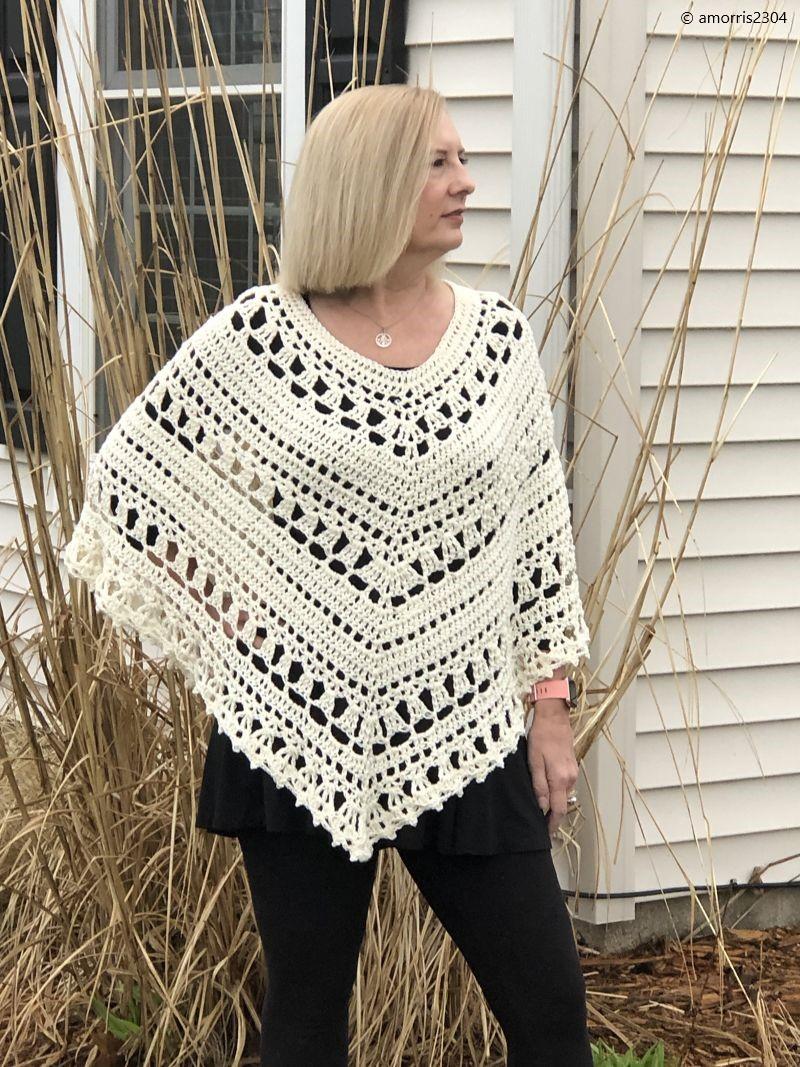 Lacy Day Poncho Free Crochet Pattern