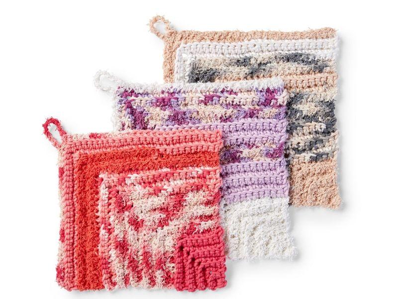 Lovely Textured Washcloths Free Crochet Patterns