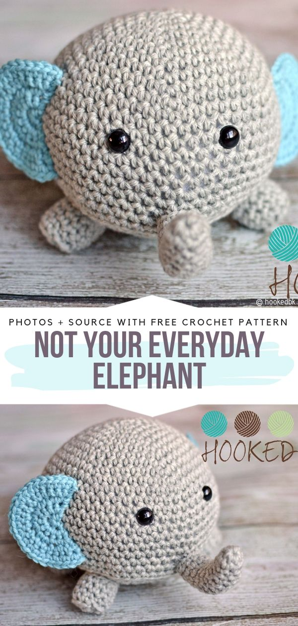 Not Your Everyday Elephant Free Crochet Pattern