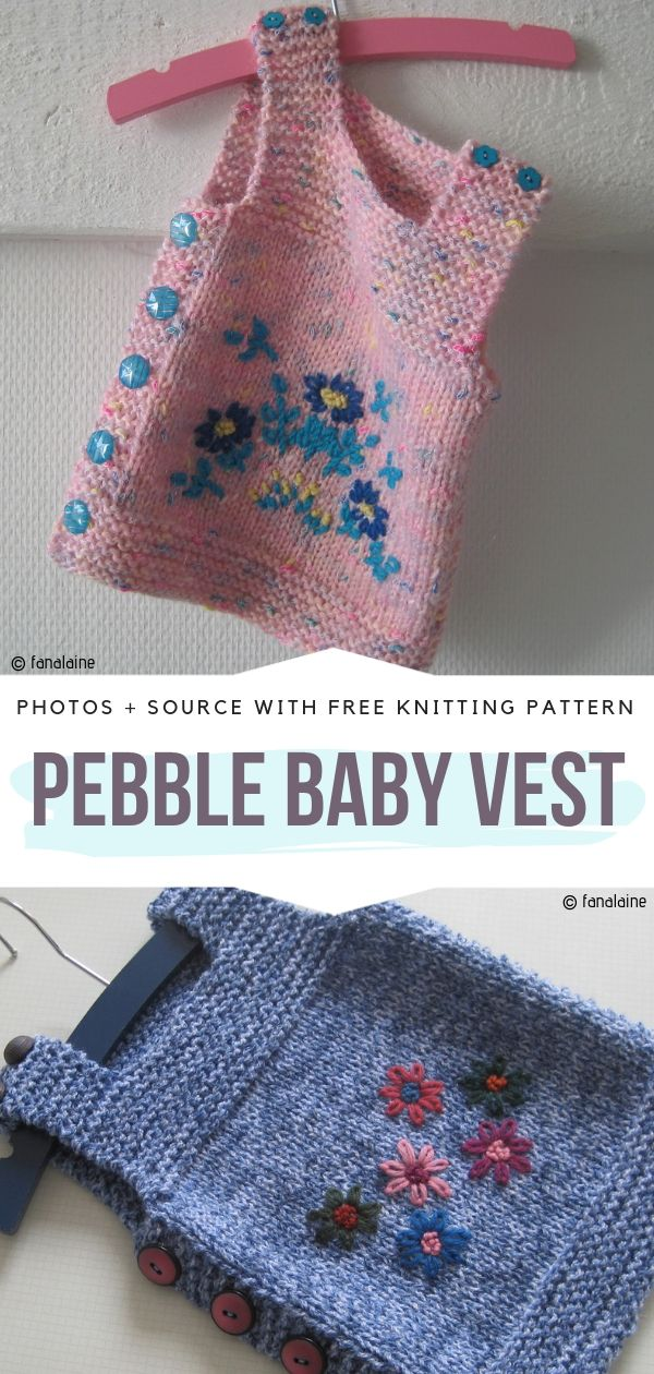 Pebble Baby Vest Free Knitting Pattern