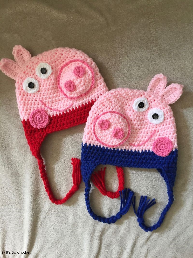 Peppa and George Pig Crochet Pattern