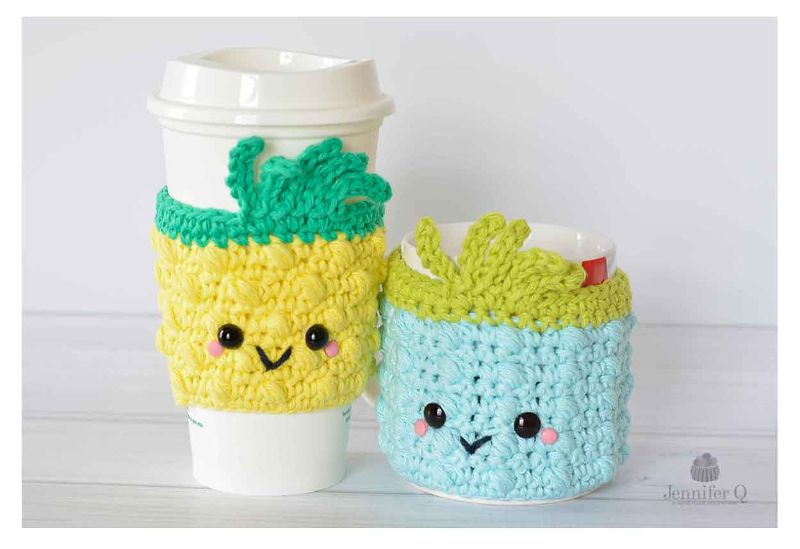 Pineapple Cup and Mug Cozies
