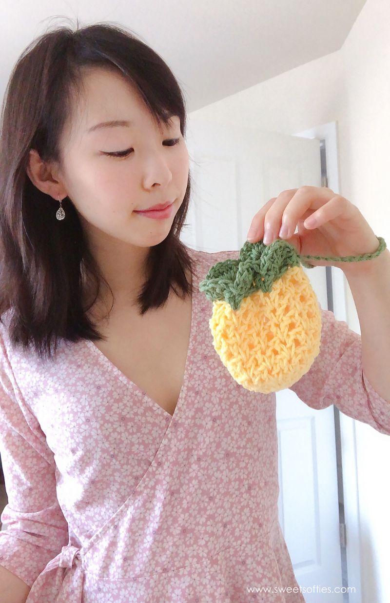 Pineapple Crochet Pouch