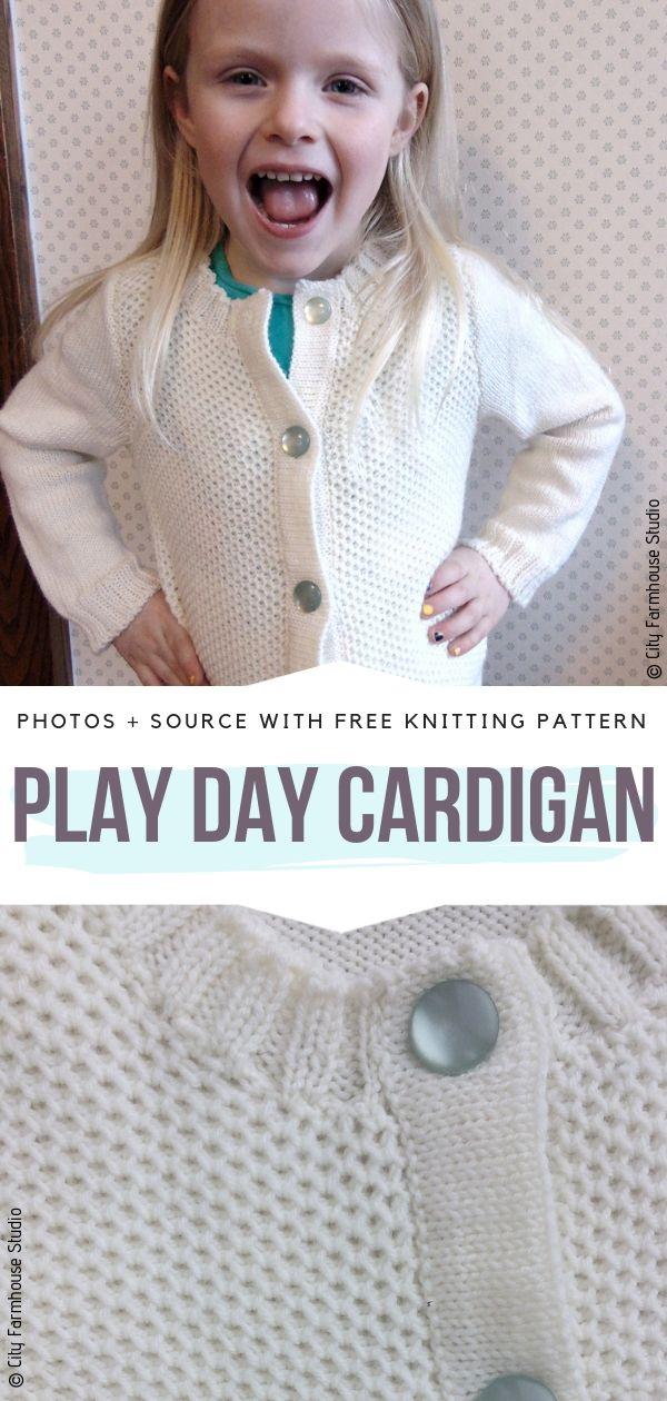 Play Day Cardigan Free Knitting Pattern