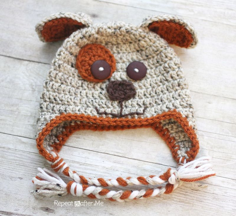 Puppy Hat Free Crochet Pattern